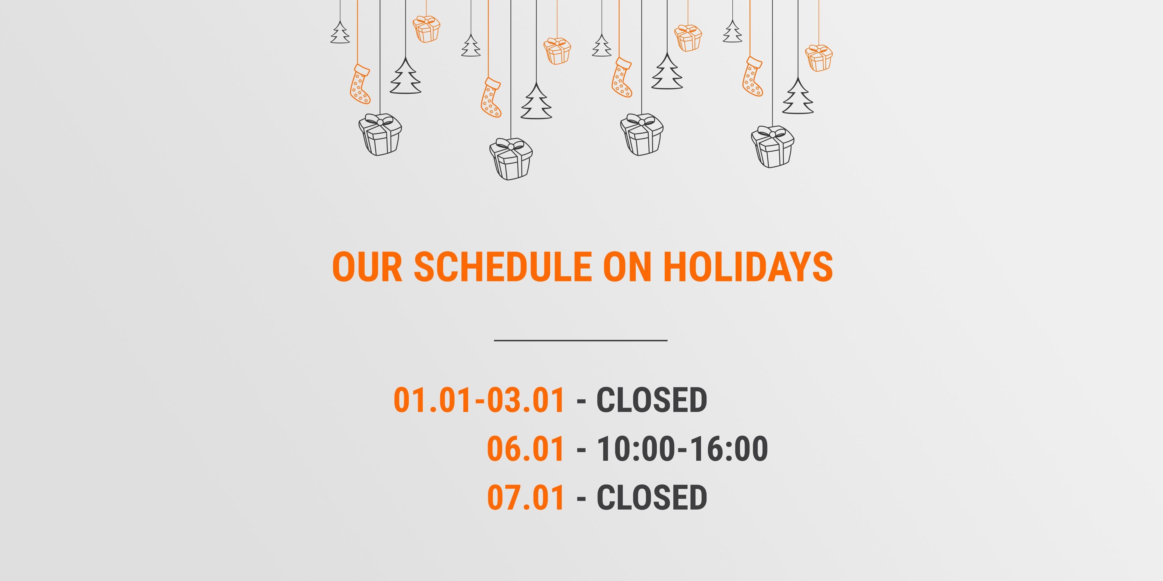 Work schedule on New Year holidays