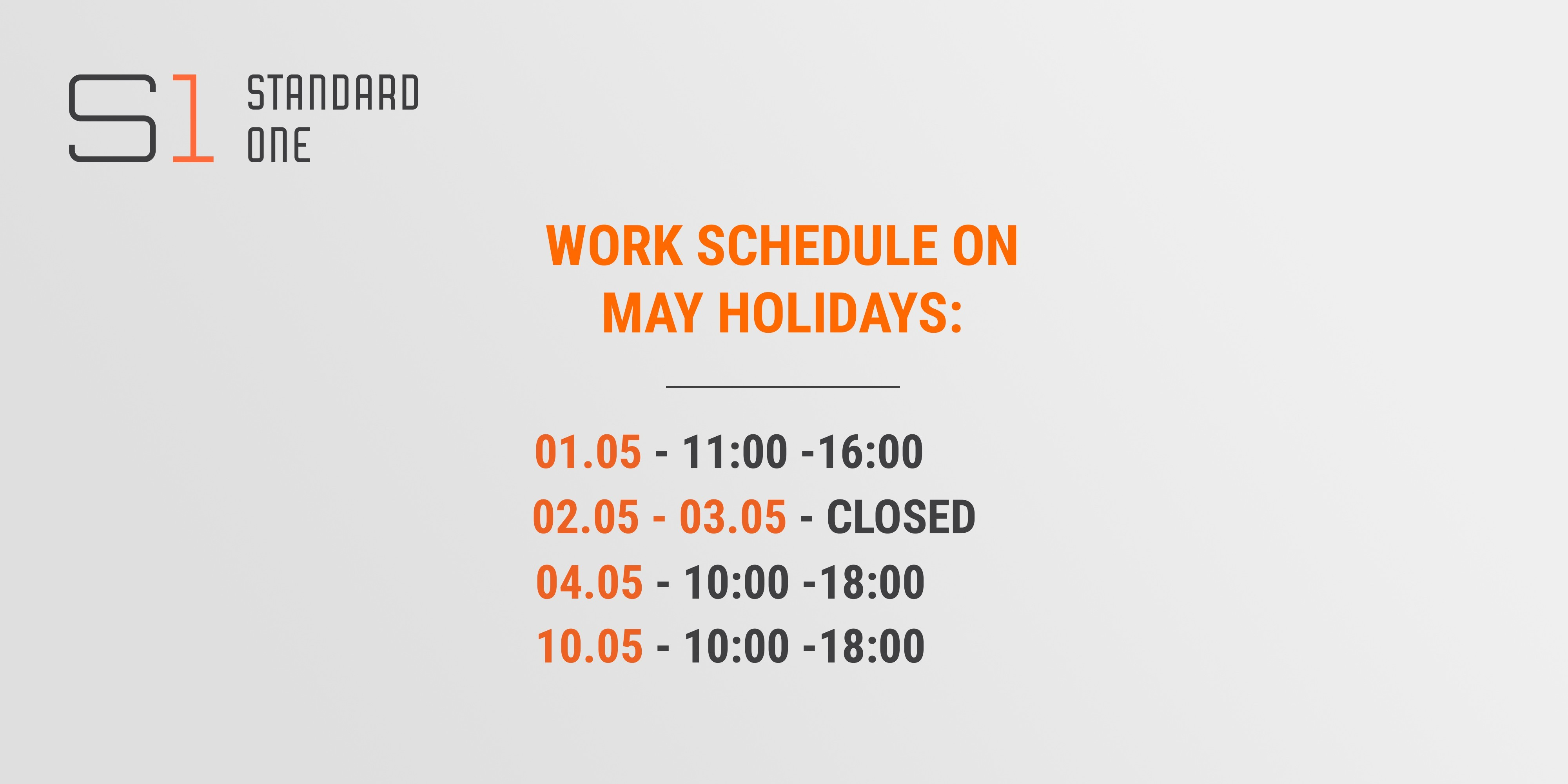 CHANGES IN THE WORK SCHEDULE