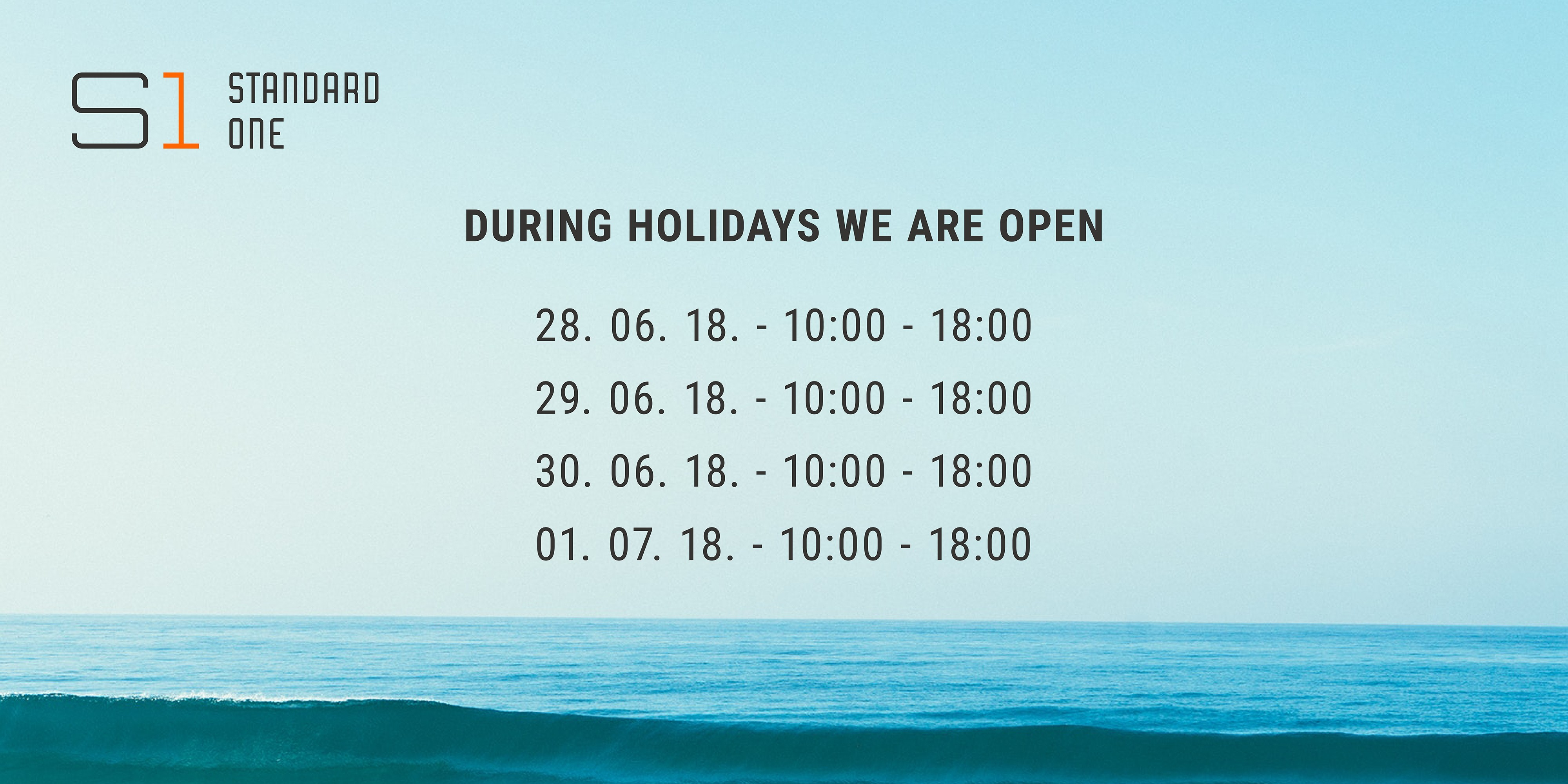 During holidays we are open