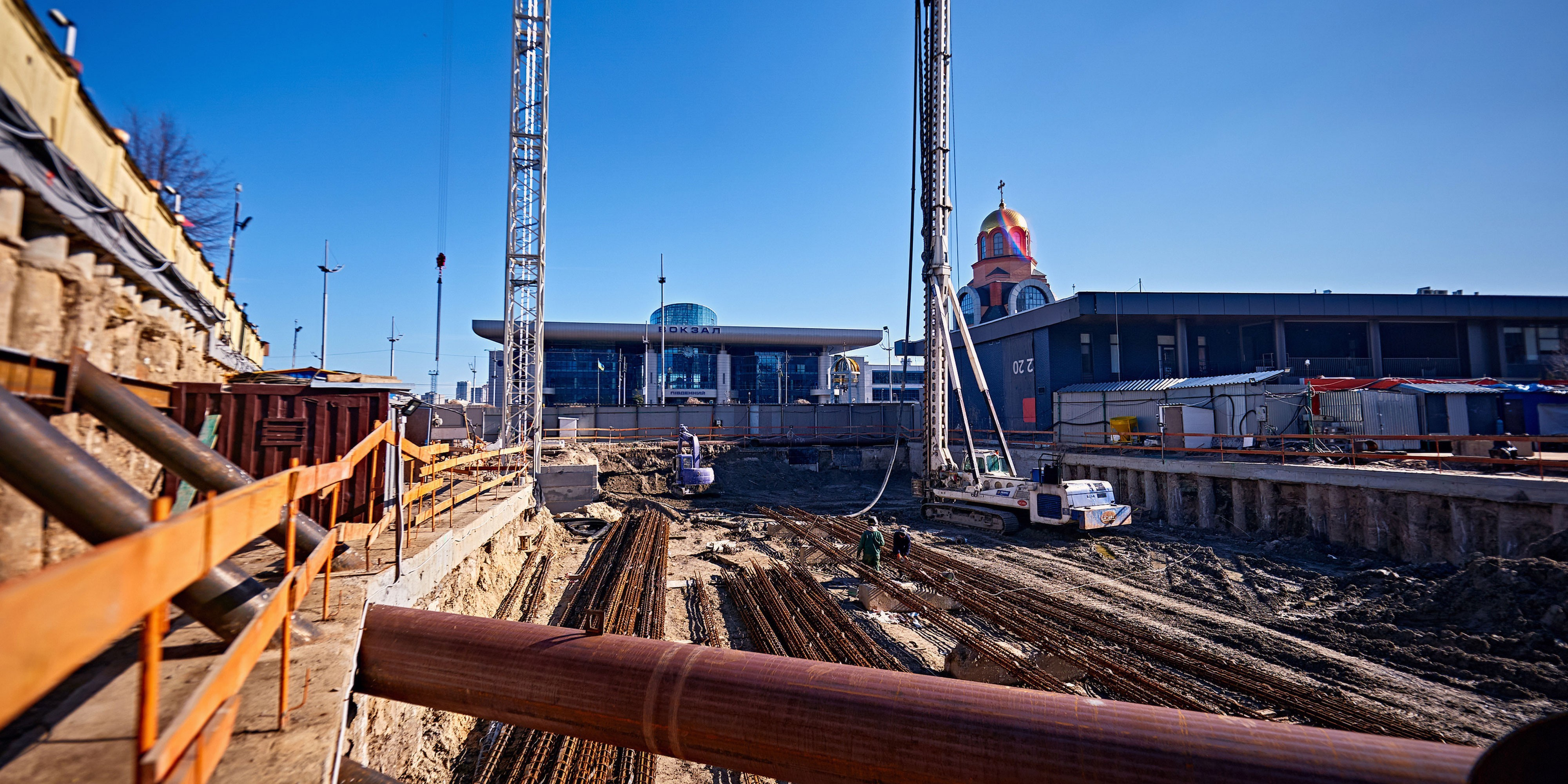S1 Terminal construction progress. April 2020