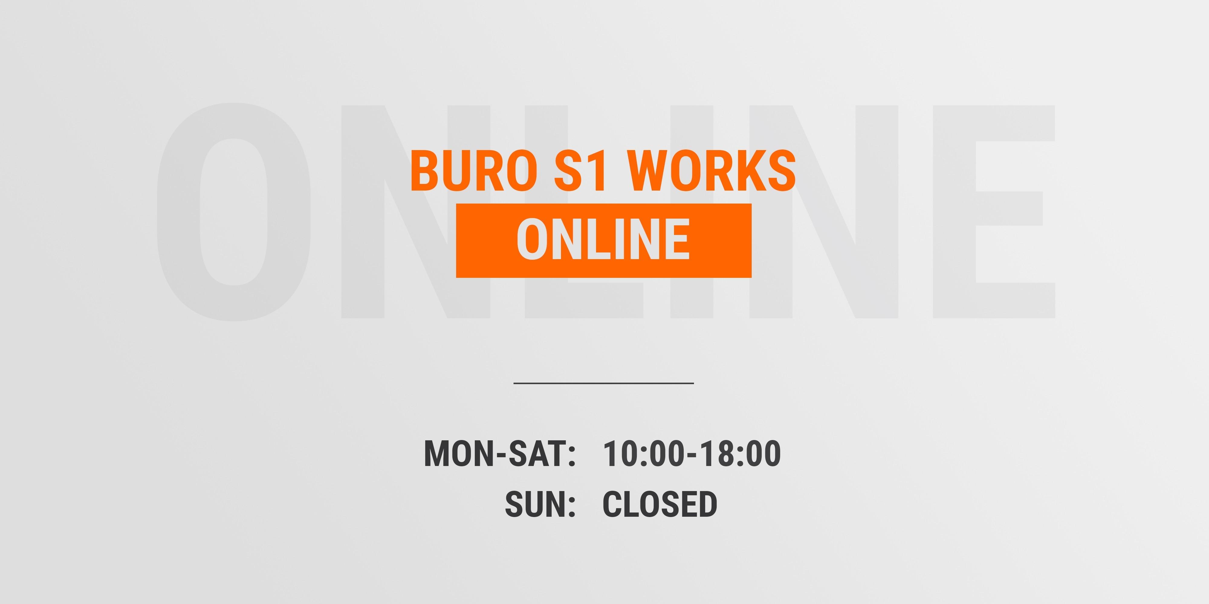 Buro S1 works online